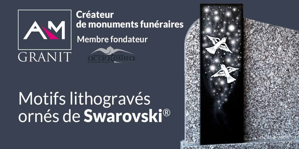 Motifs lithogravés ornés de Swarovski