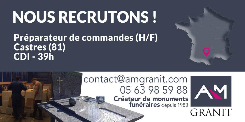 Recrutement préparateur de commandes (H/F)